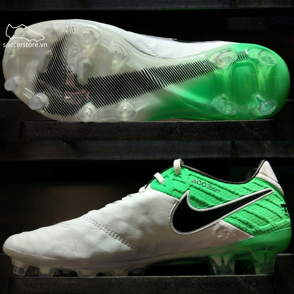 Nike Tiempo Legend VI FG - White/ Black/ Electro Green 819177-103