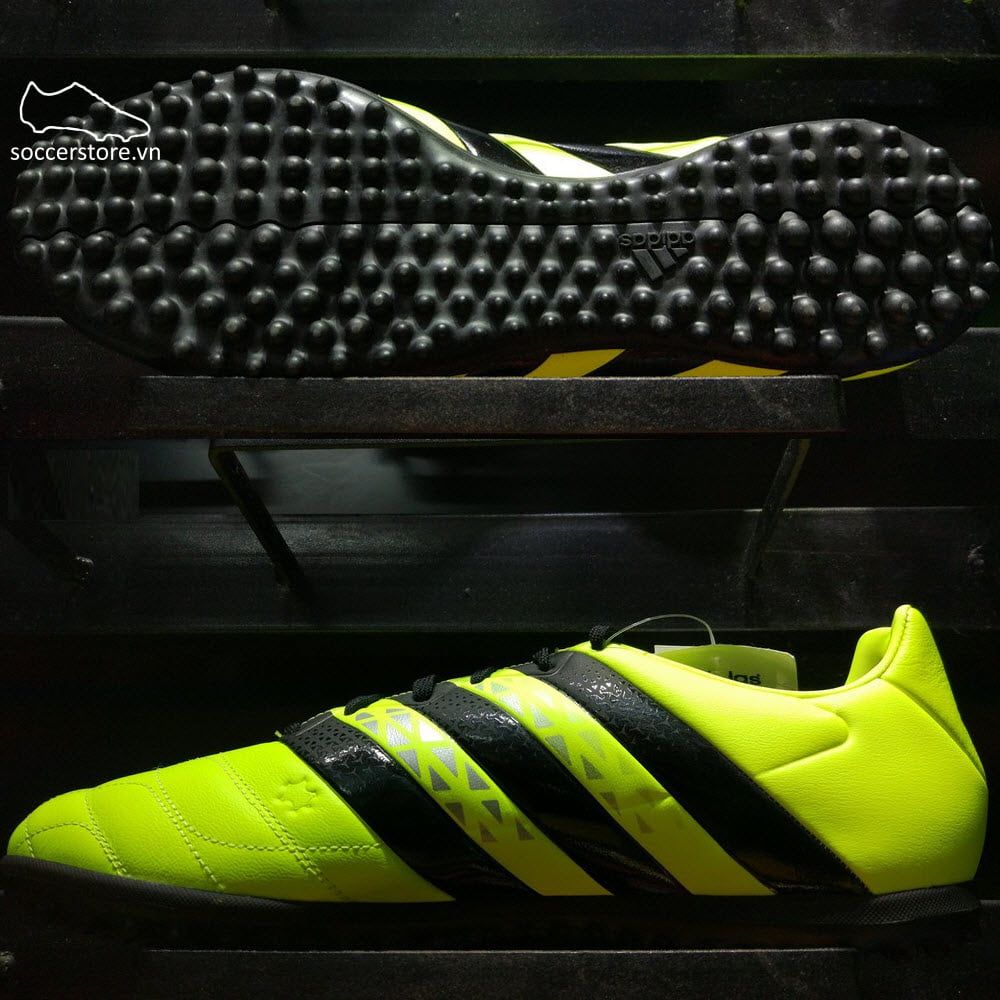 Adidas Ace 16.3 Leather TF- Solar Yellow/ Core Black/ Silver Metallic AQ2069
