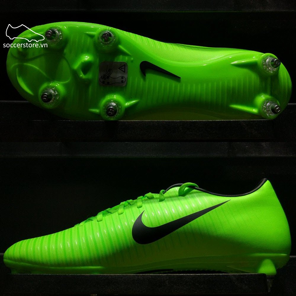 Nike Mercurial Victory VI SG- Electric Green/ Black/ Flash Lime 831967-303