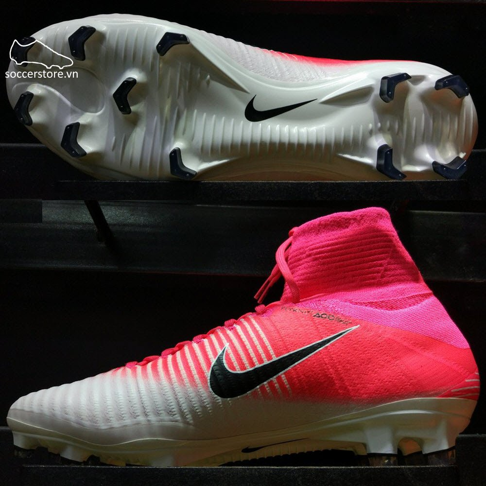 Nike Mercurial Superfly V FG- Race Pink/ Black/ White 831940-601