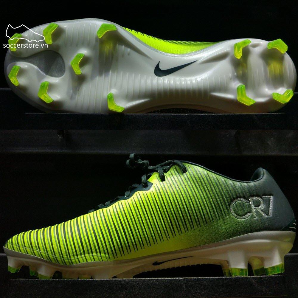 Nike Mercurial Vapor XI CR7 FG - Seaweed/ Volt/ Hasta/ White 852514-376