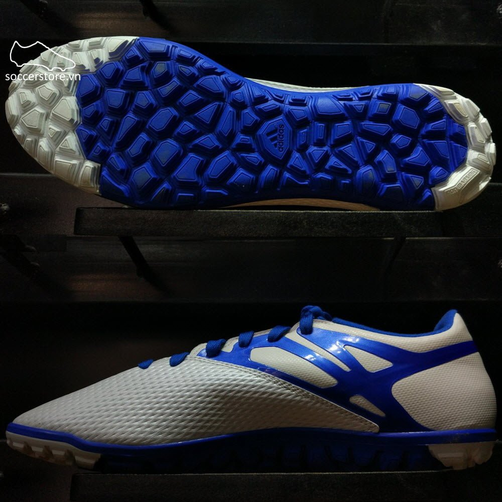 Adidas Messi 15.3 TF- White/ Prime Blue/ Core Black B25456
