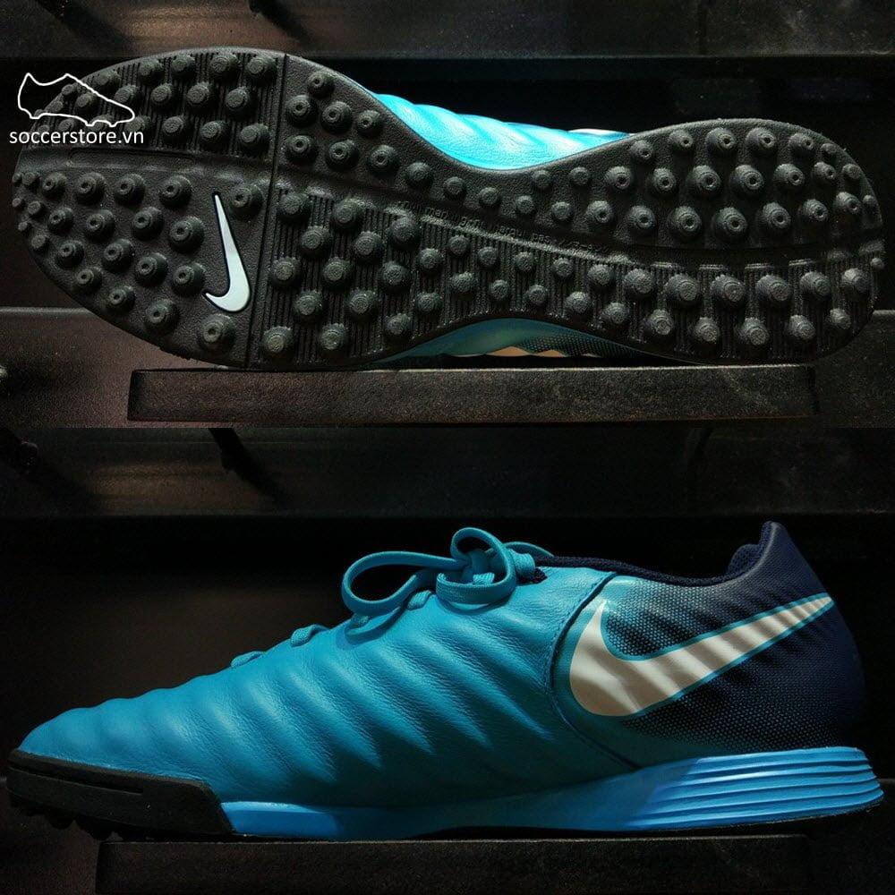 Nike Tiempo Ligera IV TF- Gamma Blue/ White/ Obsidian/ Glacier Blue 897766-414