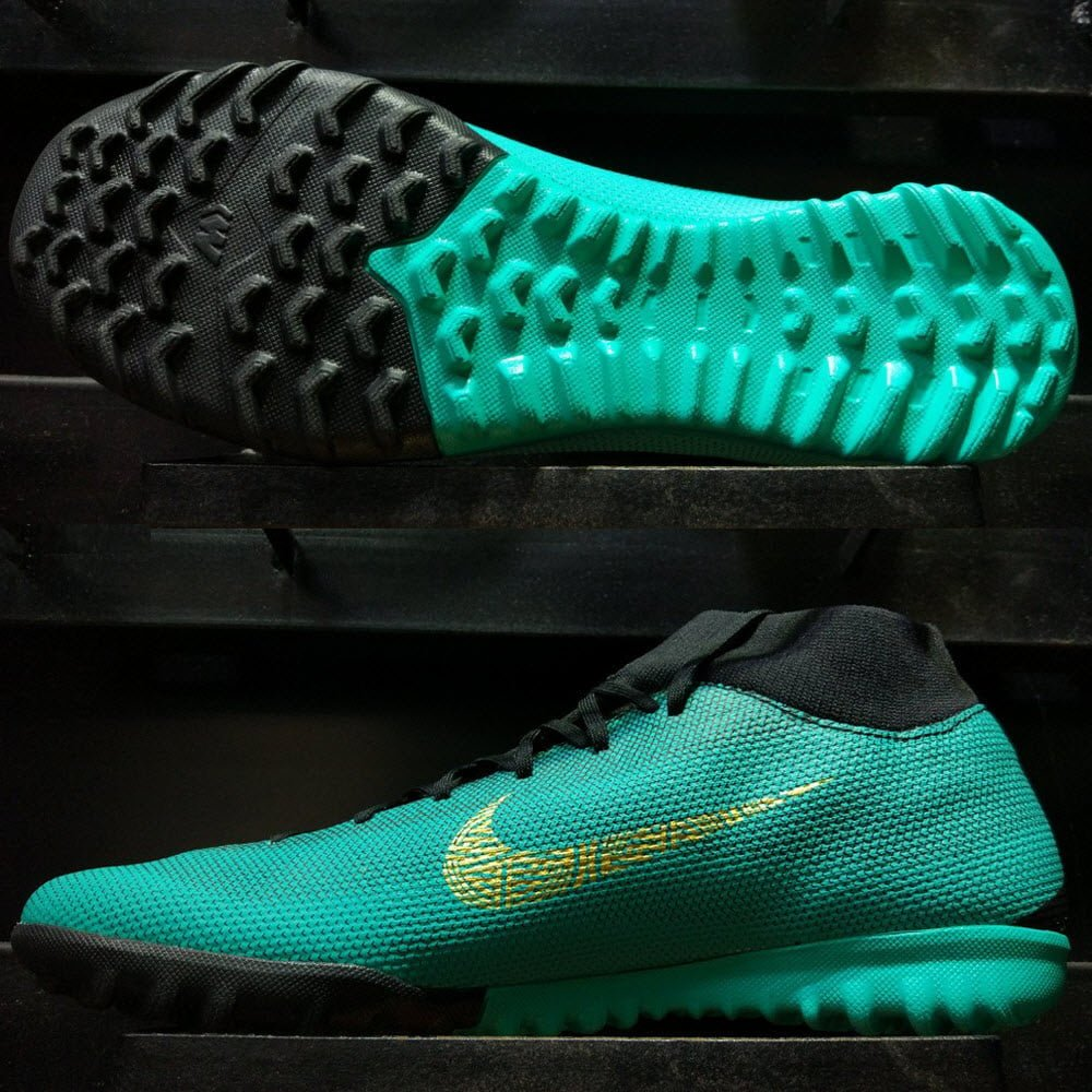 Nike Mercurial SuperflyX VI Academy CR7- Clear Jade/ Metallic Vivid Gold/ Black AJ3568-390