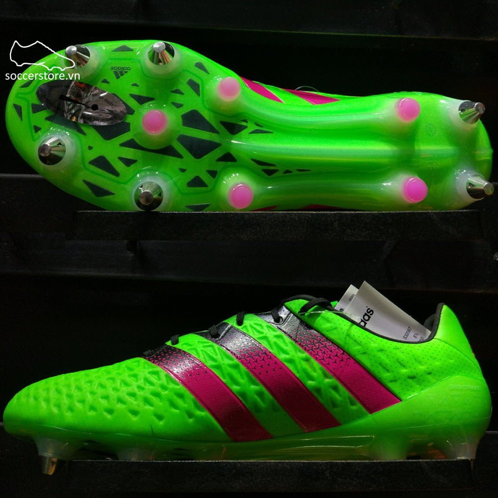Adidas Ace 16.1 SG- Solar Green/ Shock Pink/ Core Black S32067
