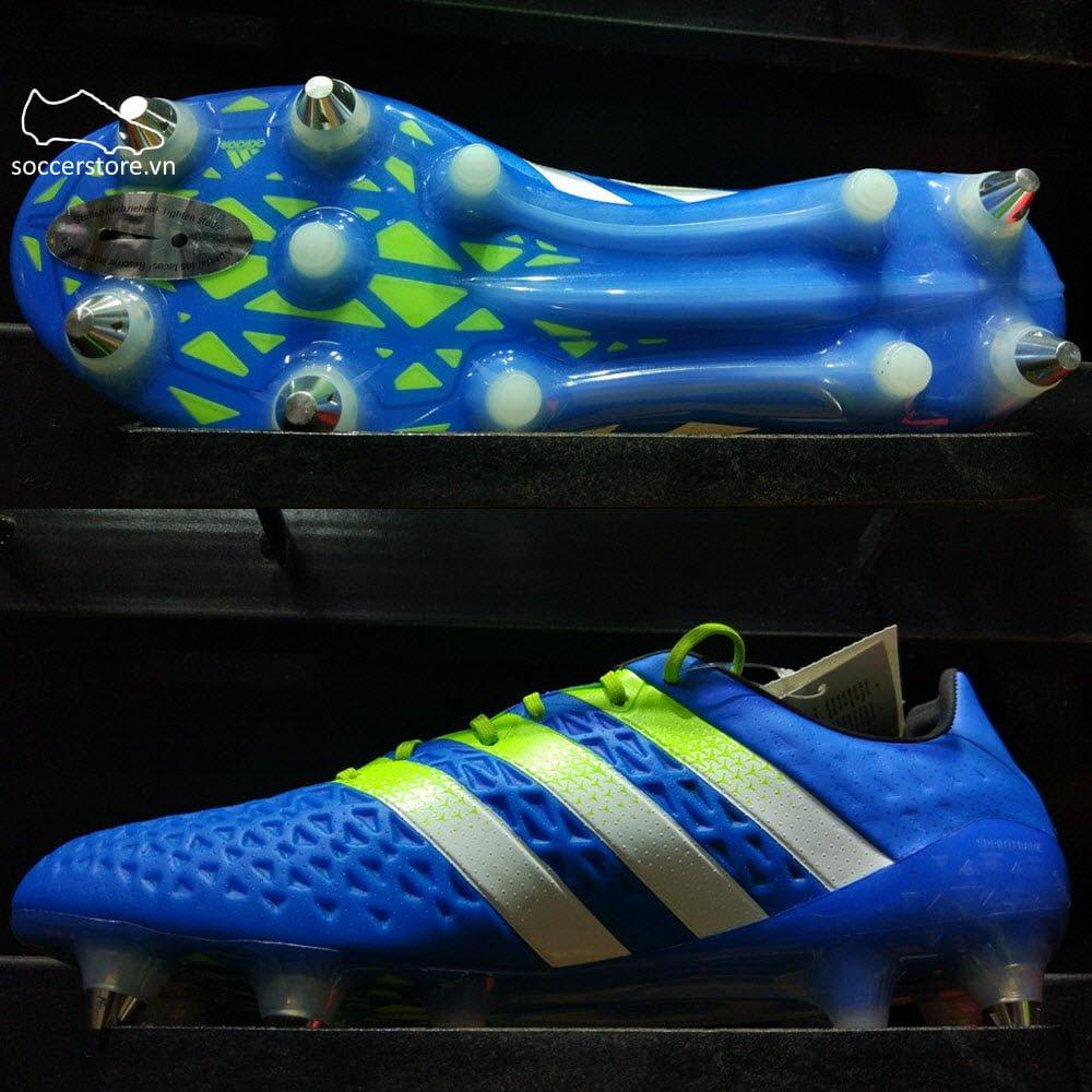 Adidas Ace 16.1 SG- Shock Blue/ Semi Solar Slime/ White S75729