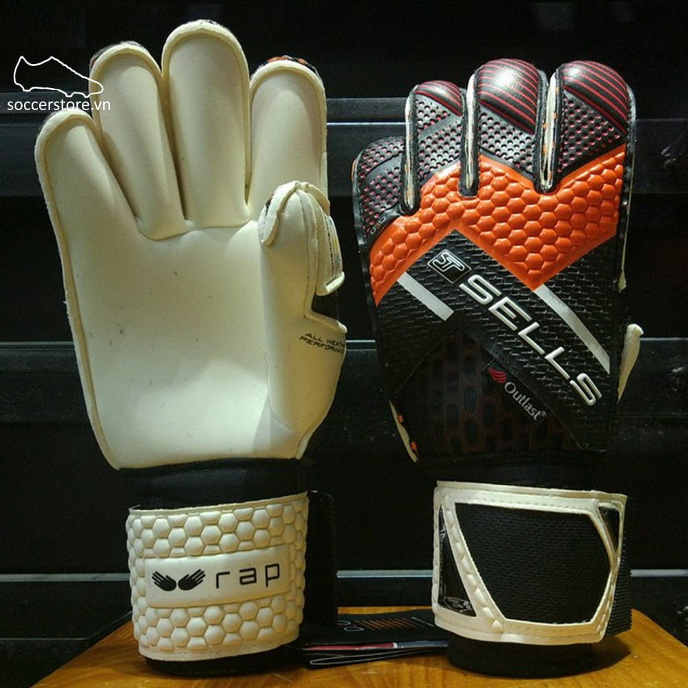 Sells Wrap Climate Competition- Black/ Orange/ Red GK Gloves SGP151610