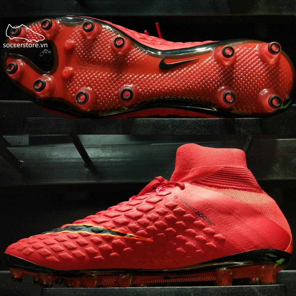Nike Hypervenom Phantom III DF AG Pro- University Red/ White/ Bright Crimson/ Hyper Crimson 852550-616