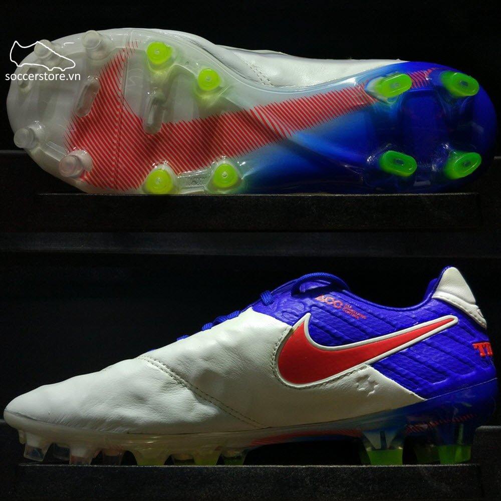 Nike Tiempo Legend VI FG- White/ Blue/ Red 819256-164