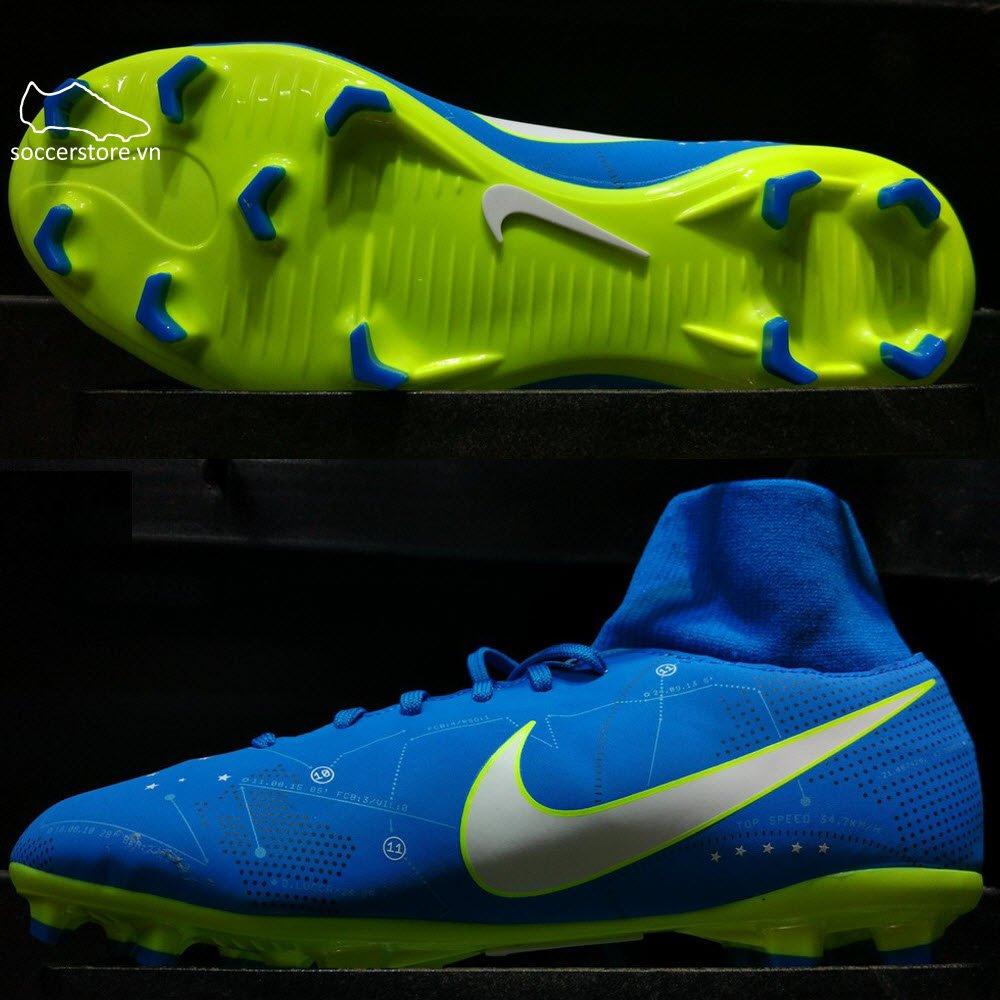 Nike Mercurial Victory VI DF Neymar Kids FG- Blue Orbit/ White/ Armory Navy 921486-400