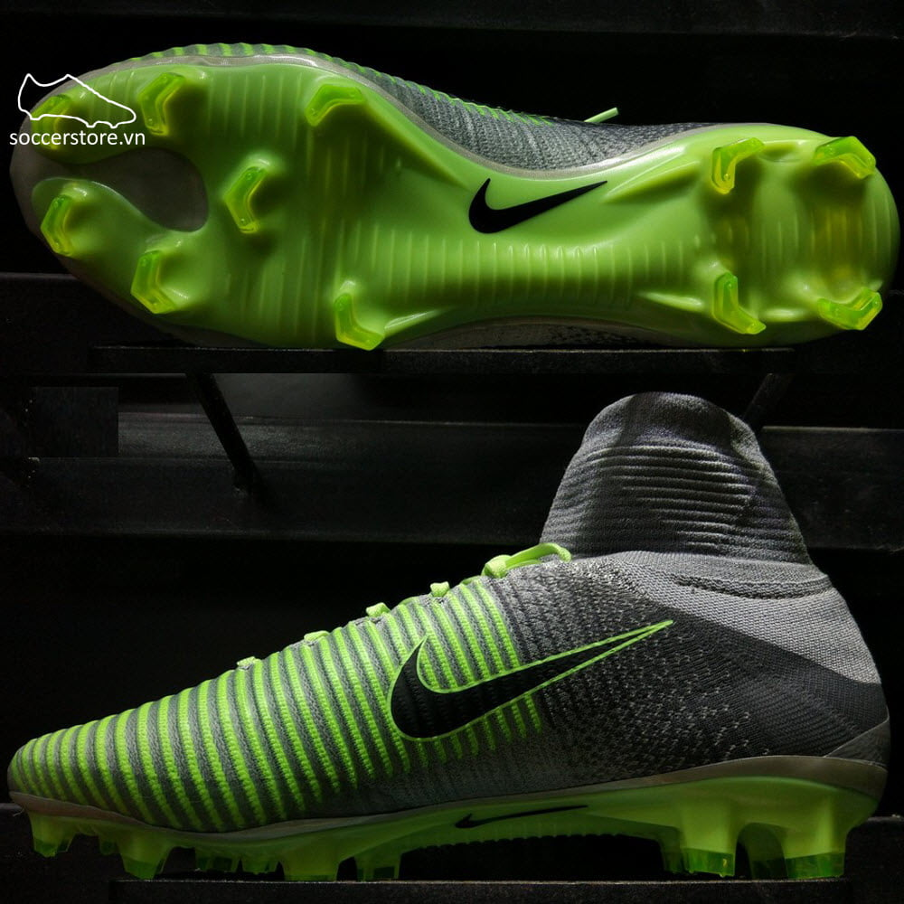 Nike Mercurial Superfly V FG- Pure Platinum/ Black/ Ghost Green 831940-003