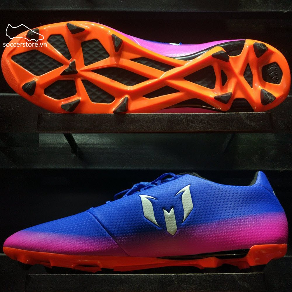 Adidas Messi 16.3 FG/AG- Blue/ White/ Solar Orange BA9021