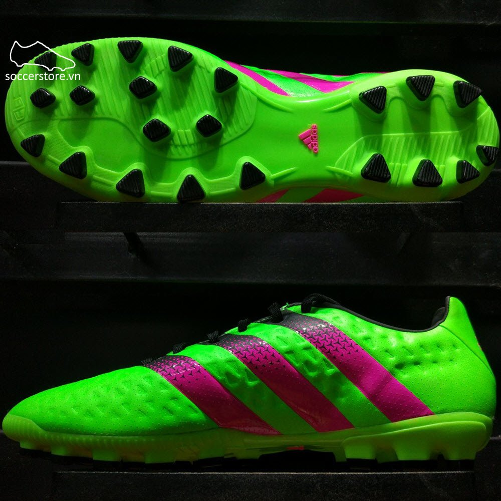 Adidas Ace 16.3 AG- Solar Green/ Shock Pink/ Core Black S78482