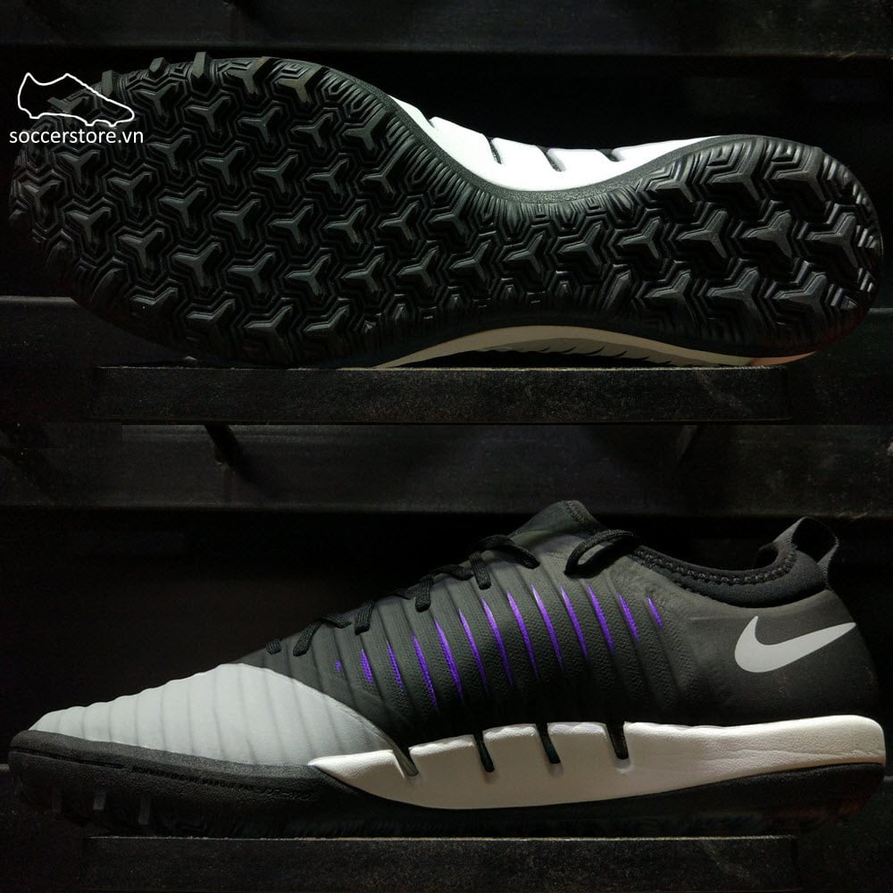 Nike MercurialX Finale TF- Black/ Hyper Grape/ Wolf Grey 831975-005
