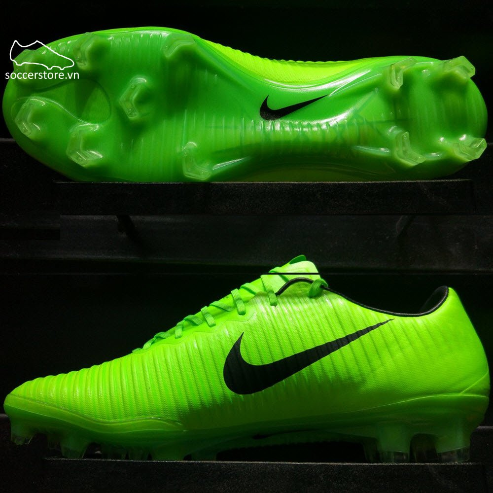 Nike Mercurial Vapor XI FG- Electric Green/ Black/ Flash Lime 831958-303