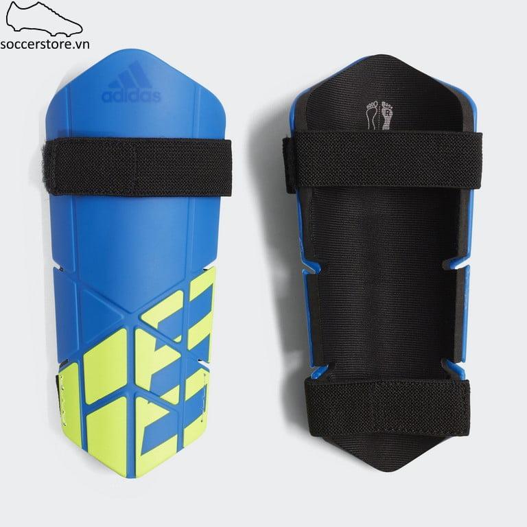 Lót ống đồng Adidas X Lite Shinguard- Blue/ Black/ Solar Yellow CW9718