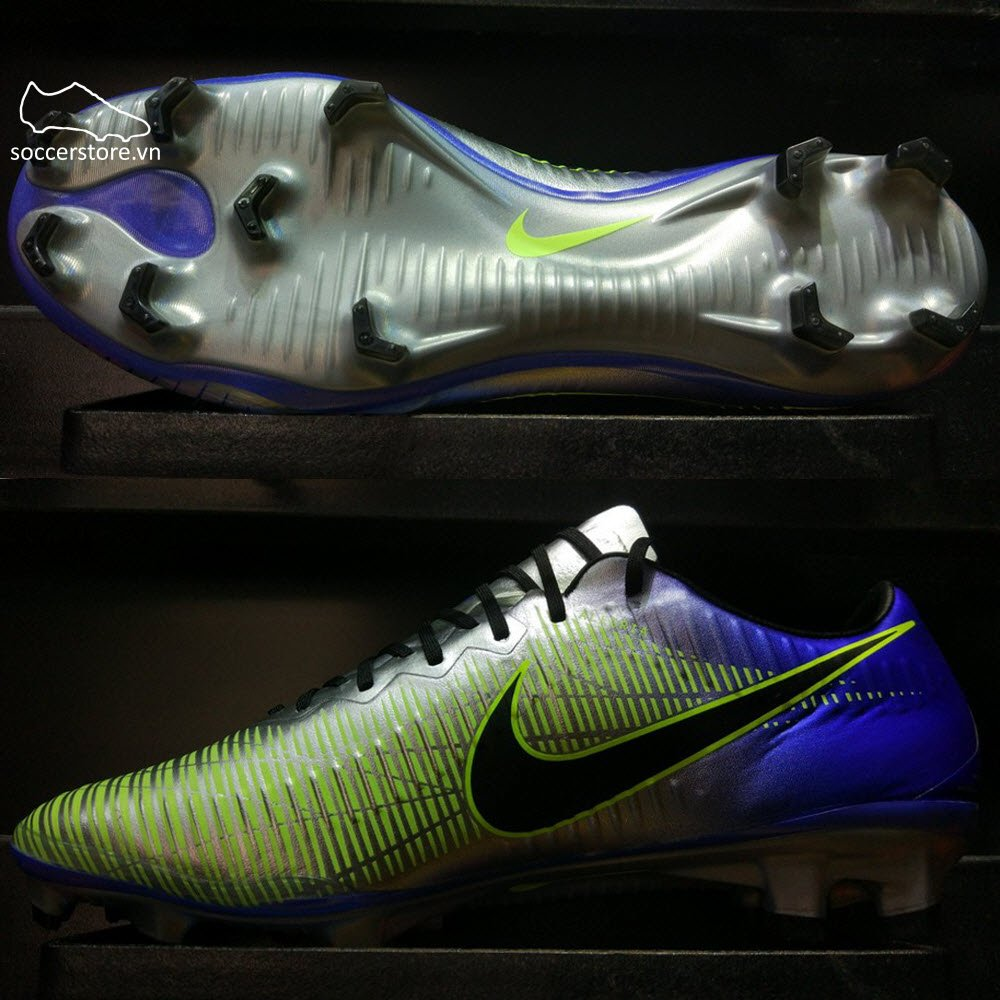Nike Mercurial Vapor XI Neymar FG- Racer Blue/ Black/ Chrome/ Volt 921547-407