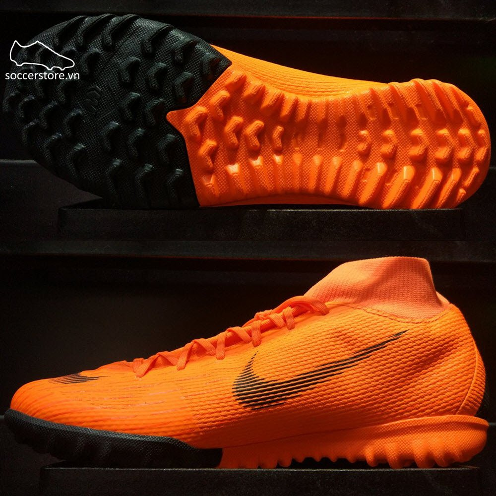Nike Mercurial SuperflyX VI Academy- Total Orange/ Black/ Volt AH7370-810