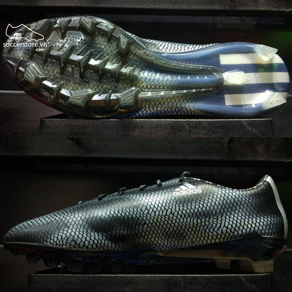 Adidas F50 Adizero FG- Core Black/ Silver B34854