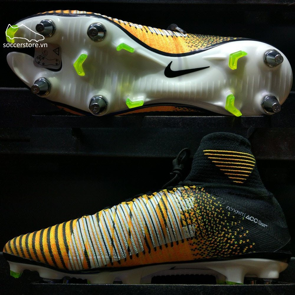 Nike Mercurial Superfly V SG Pro- Laser Orange/ Black/ White/ Volt 831956-801