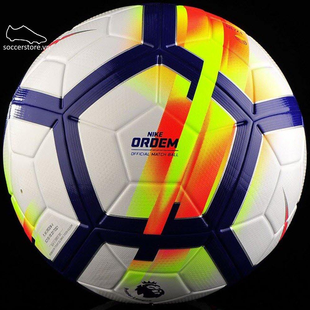 Bóng Nike Ordem V Premier League- White/ Crimson/ Deep Royal SC3130-100