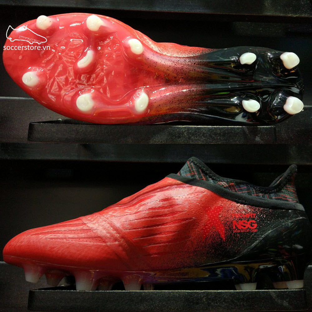 Adidas X 16+ Purechaos FG - Red/ White/ Core Black BB5612
