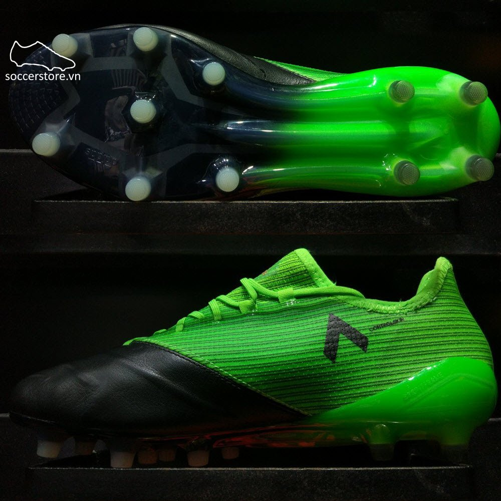Adidas Ace 17.1 Leather FG- Solar Green/ White/ Core Black BB4322