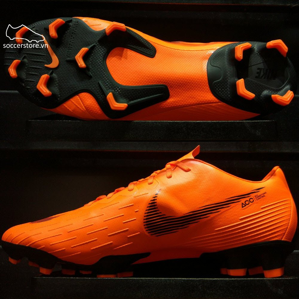 Nike Mercurial Vapor XII Pro FG- Total Orange/ Black/ Volt AH7382-810