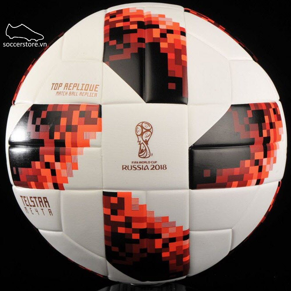 Bóng Adidas Telstar World Cup Knockout Top Replica- White/ Solar Red/ Black CW4683
