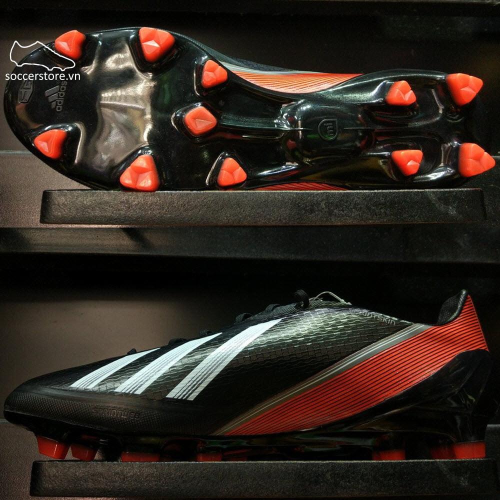 Adidas Adizero F50 TRX FG- Synthetic- Black/ White/ Red Q33849