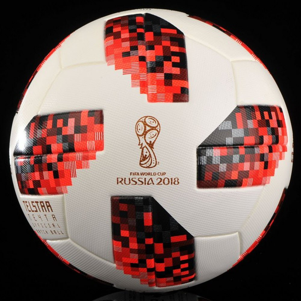 Bóng Adidas World Cup Knock Out Official Matchball- White/ Solar Red/ Black CW4680
