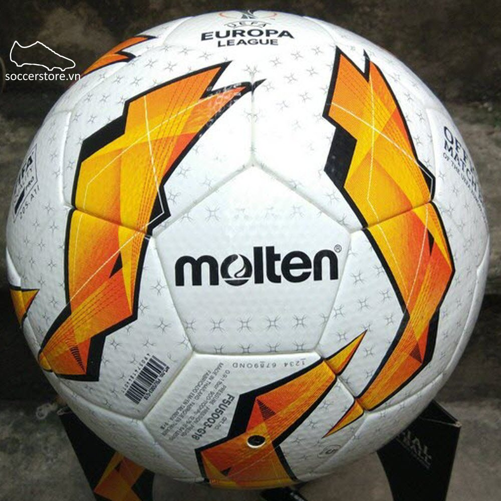 Bóng Molten F5U-5003-G18 Europa League- White/ Solar Orange/ Black F5U-5003-G18