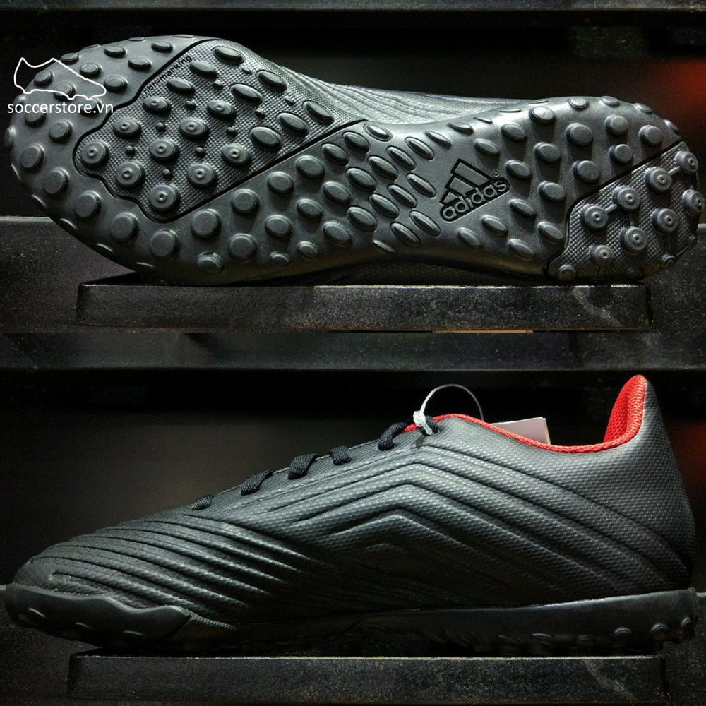Adidas Predator Tango 18.4 TF- Core Black/ White/ Red DB2143