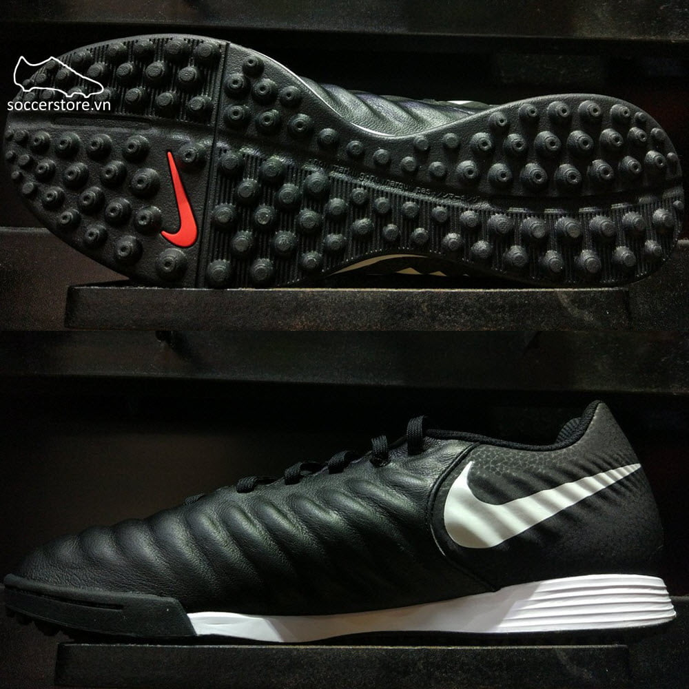 Nike Tiempo Legend VII Academy TF- Black/ Pure Platinum/ Light Crimson AH7243-006