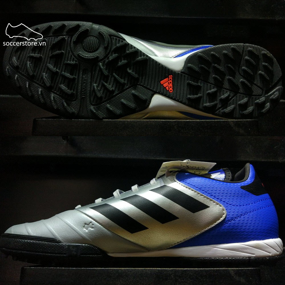 Adidas Copa Tango 18.3 TF- Metallic Silver/ Core Black/ Football Blue DB2410
