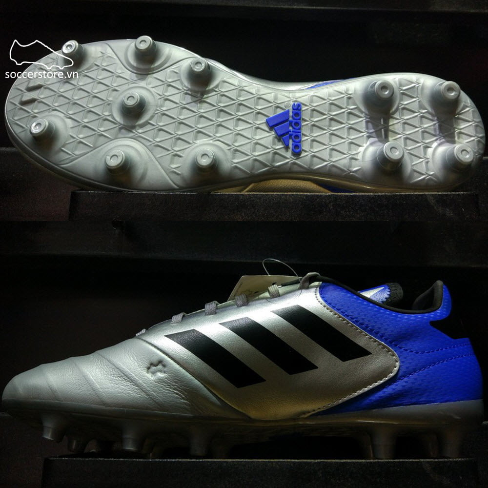 Adidas Copa 18.3 FG- Metallic Silver/ Core Black/ Football Blue DB2463