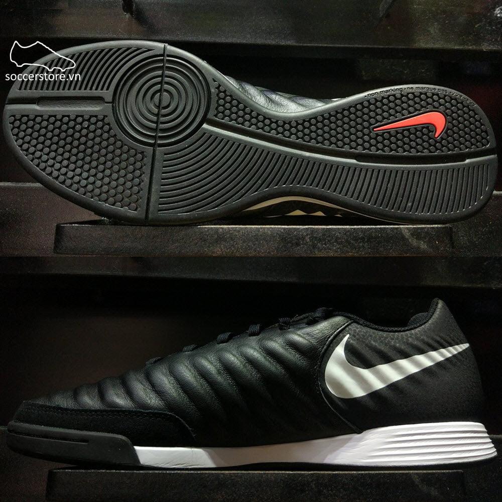 Nike Tiempo Legend VII Academy IC- Black/ Pure Platinum/ Light Crimson AH7244-006