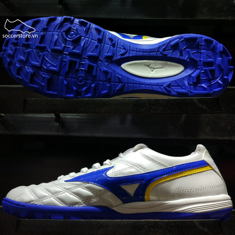Mizuno Wave Cup Legend AS- White/ Blue/ Solar Yellow P1GD191919