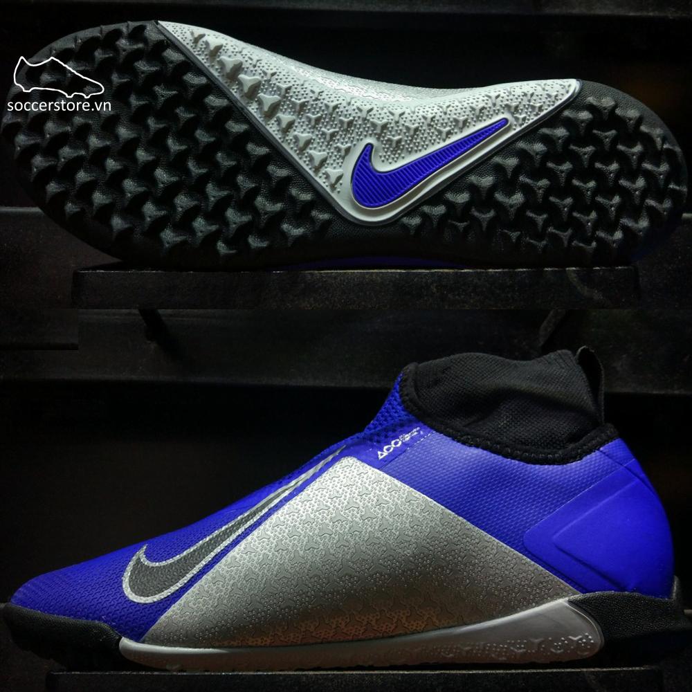 Nike React Phantom VSN Surge Pro DF TF- Racer Blue/ Black/ Metallic Silver/ Volt AO3277-400
