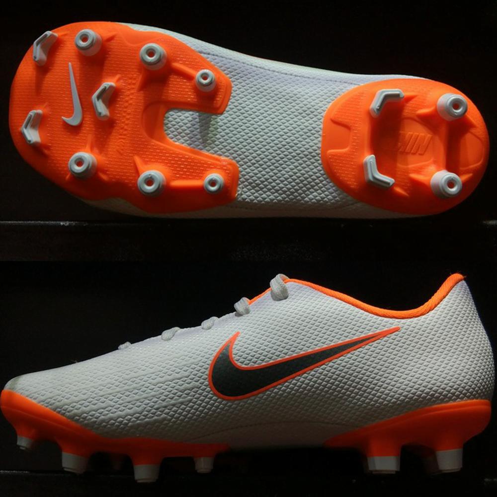 Nike Mercurial Vapor XI Academy Kids FG- White/ Metallic Cool Grey/ Total Orange AH7349-107