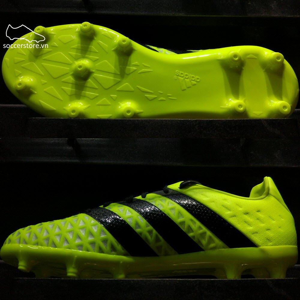 Adidas Ace 16.1 Kids FG/AG- Solar Yellow/ Core Black/ Silver Metallic S79668