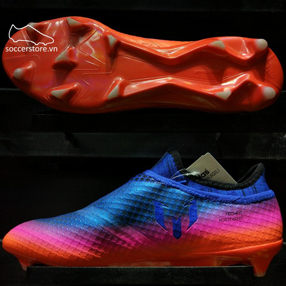 Adidas Messi 16+ Pureagility FG- Blue/ White/ Solar Orange BB1871