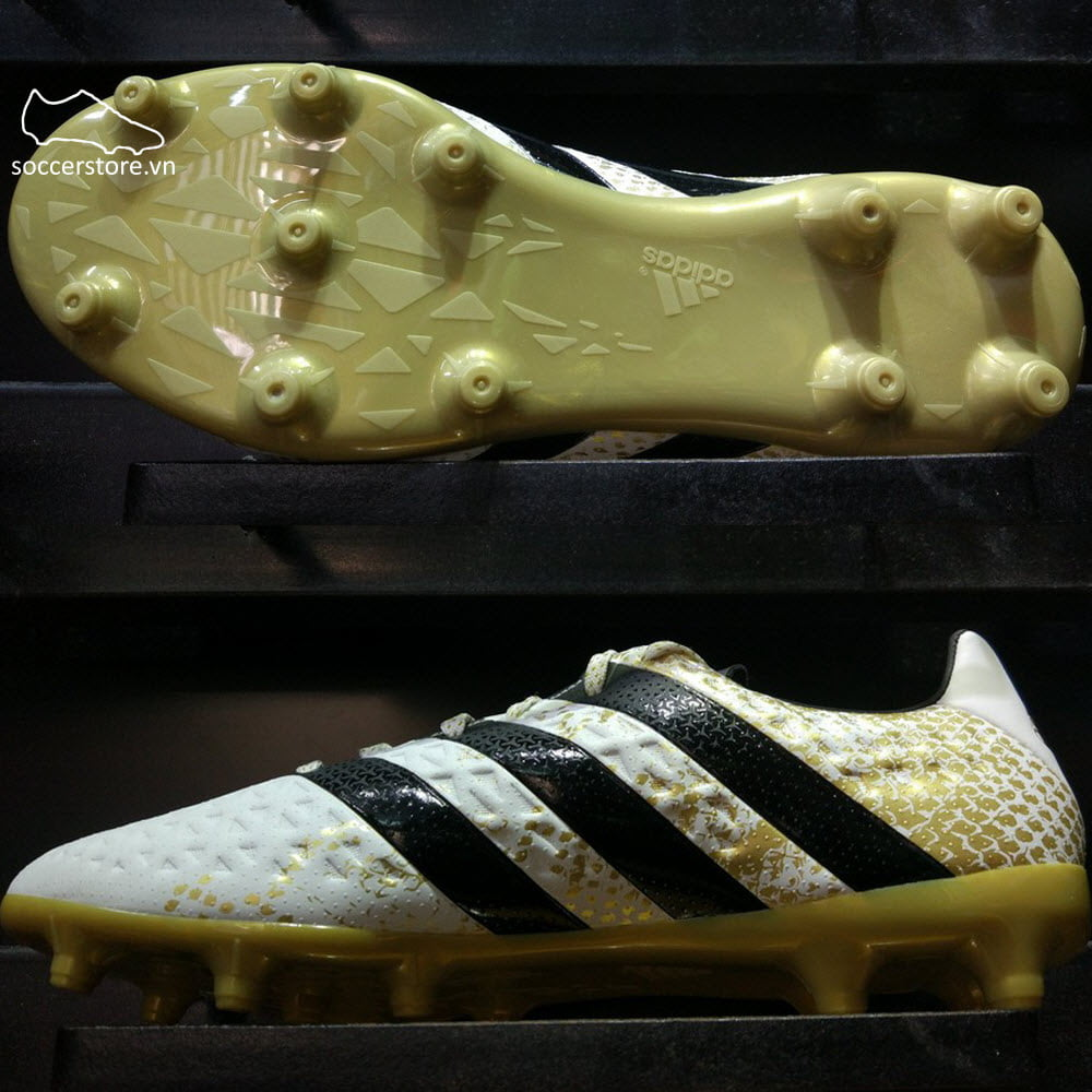 Adidas ACE 16.3 FG/AG - White/Core Black/Gold Metallic S79715
