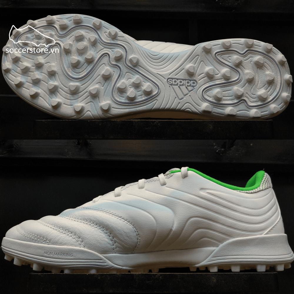 Adidas Copa Tango 19.3 TF- White/ Solar Lime/ White D98064