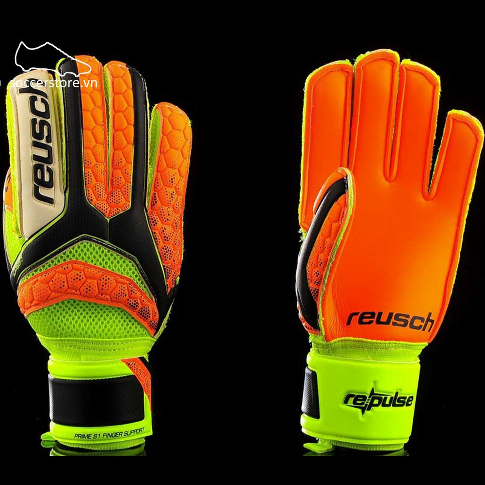 Reusch Repulse Prime S1 FS Junior- Black/ Shocking Orange/ Shocking Orange GK Gloves 3672200-767