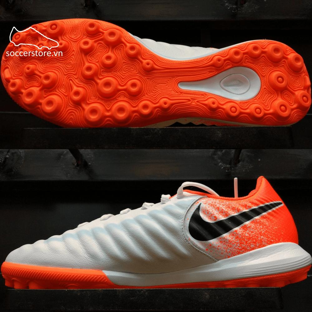 Nike Tiempo Legend VII Pro TF - White/ Black/ Hyper Crimson AH7249-118
