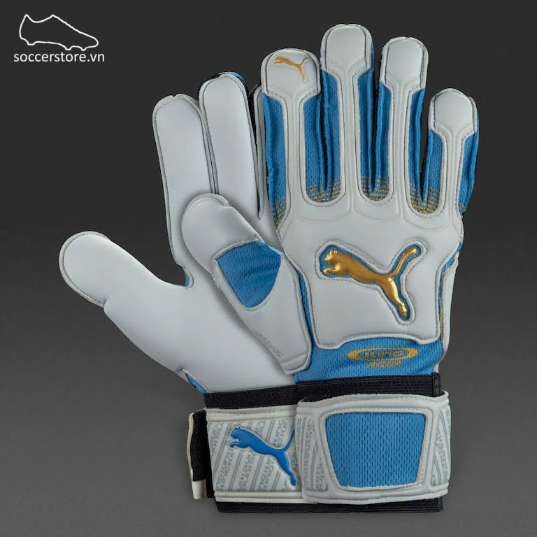Puma King XL Aqua Italia - Blue/ Gold/ Black GK Gloves 040449-02