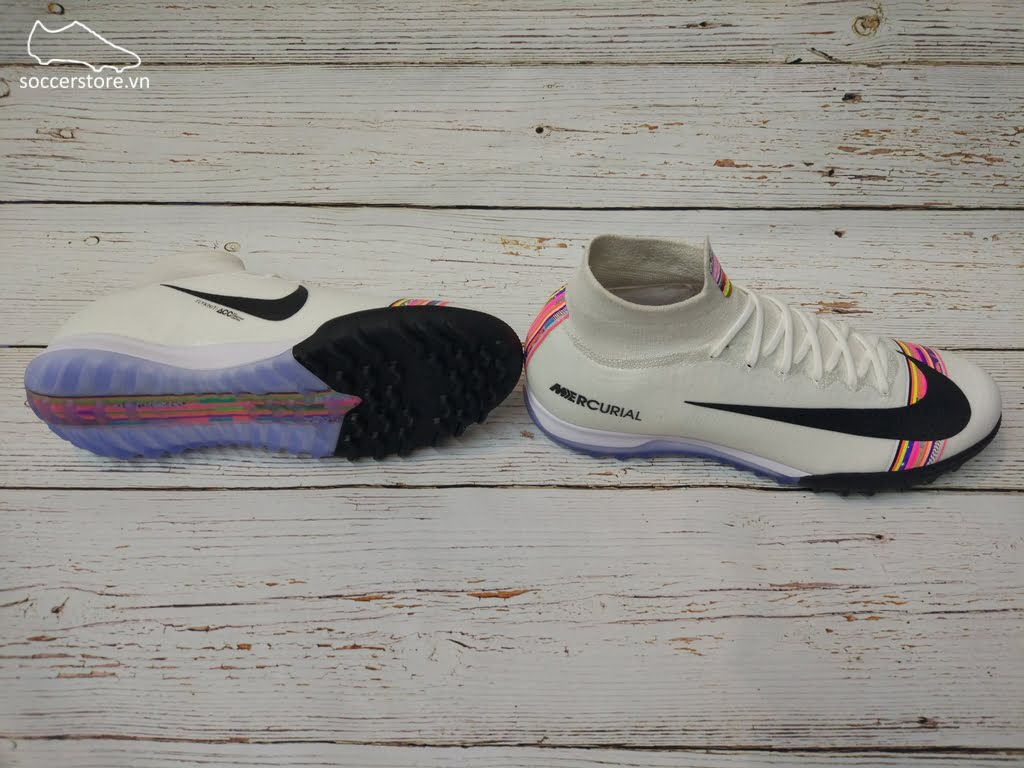 Nike Mercurial Superfly VI Elite TF- Pure Platinum/ White/ Black AJ3572-009