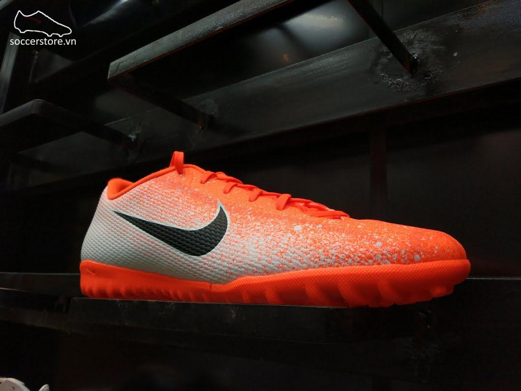Nike Mercurial Vapor XII Academy TF- Hyper Crimson/ Black/ White AH7384-801