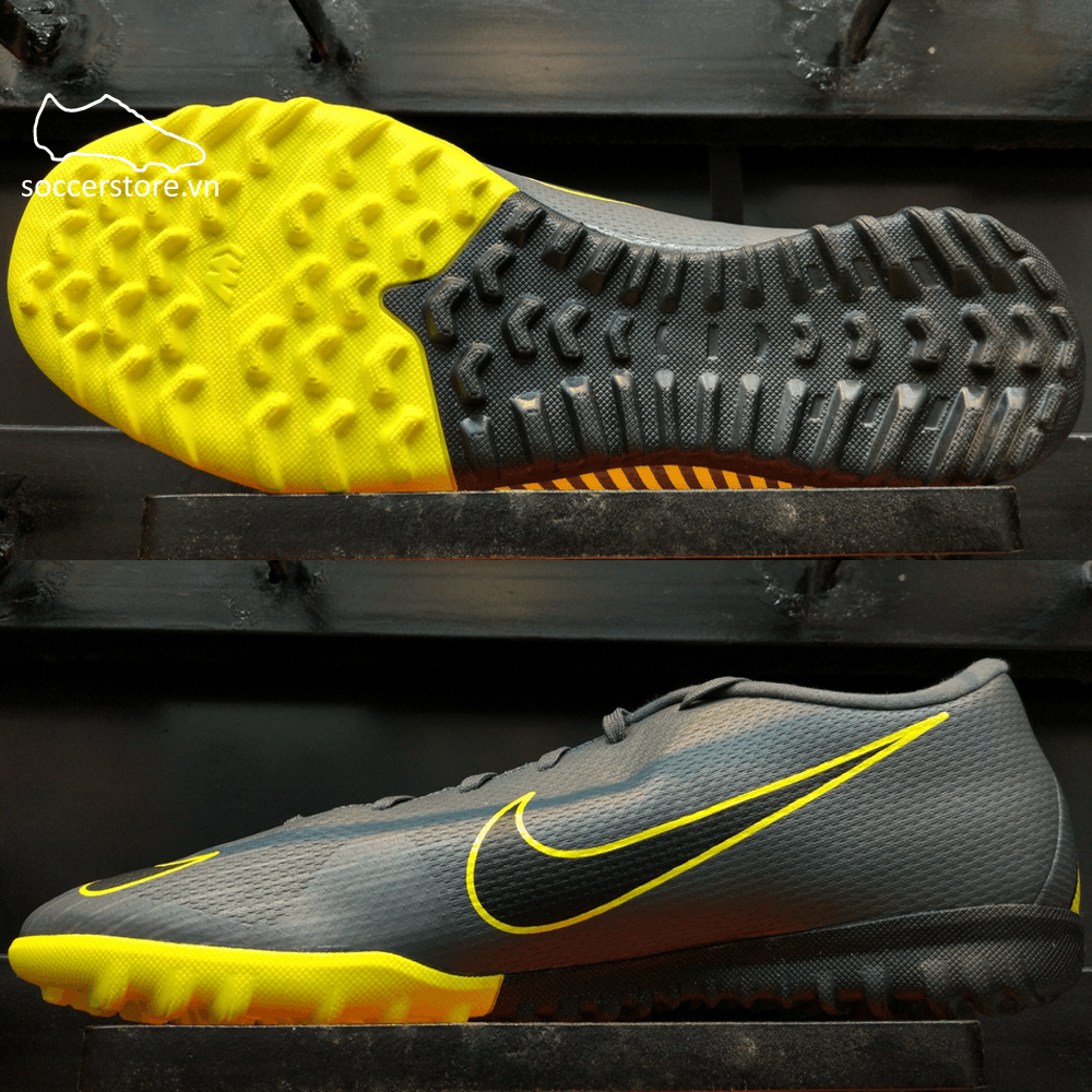 Nike Mercurial Vapor XII Academy TF - Dark Grey/ Black/ Yellow AH7384-070